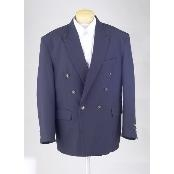 Mens Navy Blue Double