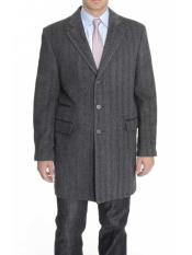 Lapel Herringbone 3/4 Length