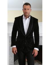black velvet tuxedo Modern Fit suit jacket