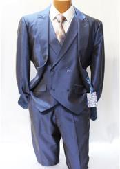 Shark Skin Vested Suit