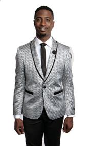 Tazio 1 Button Slim Fit Gray Blazer
