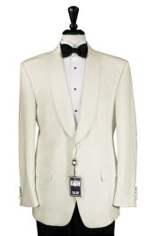 Ivory 1 Button Shawl Dinner Jacket