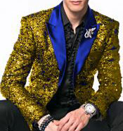 Gold ~ Royal Blue Sport coat