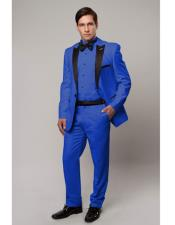 Slim Tux royal blue with black