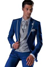 Button Royal Blue Wool