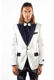 Mens Peak Lapel 1 Button Flashy Shiny Sequin Blazer