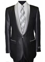 Mens Black Shawl Collar Single Button Dinner Jacket / Blazer Sport coat