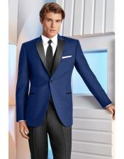 Indigo Slim Fit Dress Suits for Men