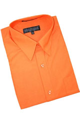 Cotton Blend Dress Shirt With Convertible Cuffs