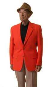 Mens Two Button Blazer orange (Men + Women)
