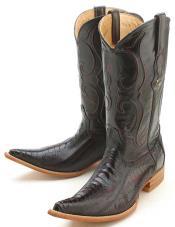 Leg Handmade Black Cherry Los Altos Mens Cowboy Boots Western Classics