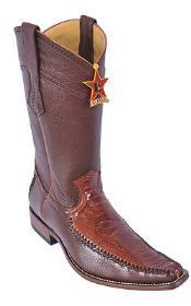Leg Cognac Brown Color Los Altos Mens Cowboy Boots Vintage Wear Riding