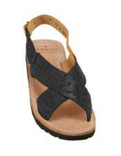 Exotic Skin Sandals in ostrich or World Best Alligator ~ Gator Skin or Stingray skin in White