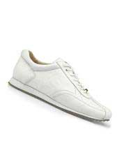 Mens Genuine Ostrich White Lace Up Style Dress Shoes