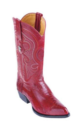 Los Altos Boots Red Ostrich Leg