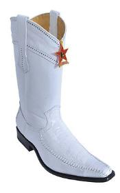 Leg Leather White Los Altos Mens Cowboy Boots Western Rider Classics