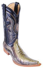 Leg Handmade Rustic Green Los Altos Mens Cowboy Boots Western Classics