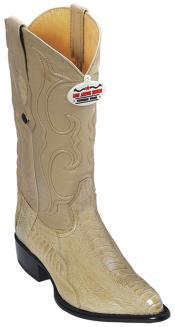 Leg Leather Beige Los Altos Men Cowboy Boots Western Fashion Rider Style