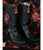 Cowboy Black fabulous grip stylish leather ~ Los Altos Genuine Ostrich