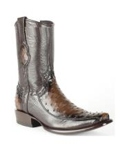 Mens Burnished Brown King Exotic Cowboy Style By los altos Boots