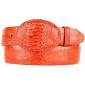 Style Belt Original Ostrich Leg Skin Cognac