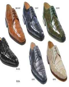 has a genuine Oxfords Crocodile ~ World Best Alligator ~ Gator skin upper with genuine ostrich trimming