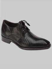 Brand Mens Padilla Style Black Genuine Lizard Shoes