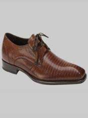 Brand Mens Padilla Style Tan Genuine Lizard Shoes