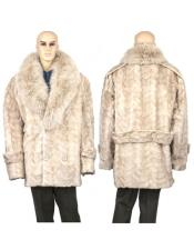 Mens Fur Pearl Genuine Mink Paws Designer Mens Wool Mens Peacoat Sale
