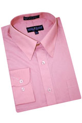 Mauve Cotton Blend Dress Shirt With Convertible Cuffs