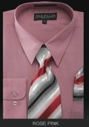 Dress Shirt - PREMIUM TIE - Rose Pink
