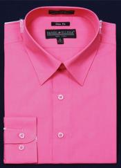 Slim Fit Dress Shirt - Fuchsia ~ fuschia~ hot Pink Color