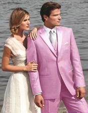 Pink Two Button Tuxedo