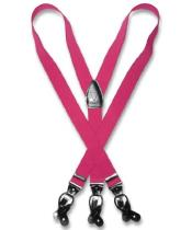Mens Hot Pink Fuchsia ~ fuschia ~ hot Pink Suspenders Y