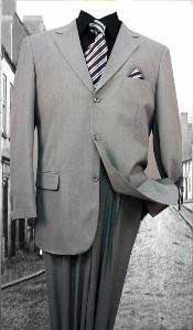 Grey-Gray Solid Color cheap discounted Suit regular cut Available in