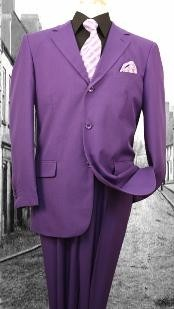 Super 120S G-Purple Solid Color Suit