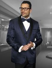 Polk Dot ~ Geometric Tuxedo Suit Shawl Lapel Two Toned Vested