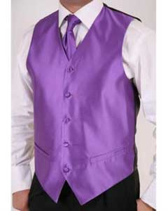 Mens Purple 2-Piece Vest Set Also available in Big and Tall Sizes