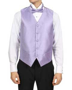 Mens Lilac Lavender Purple 4-Piece Vest Set Also available in Big and Tall Sizes