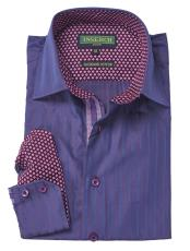 Jacquard Fashion Purple Collared