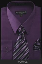PREMIUM TIE - Purple Mens Dress Shirt