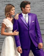 Purple Two Button Tuxedo