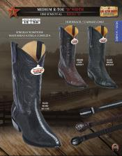 "Los Altos R-Toe Stingray mantarraya skin/Hornback ""D"" Width Mens Cowboy Boot Diff Colors/Sizes"