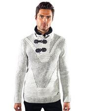 barabas raft gold leaf bone sweater Available in Big And Tall