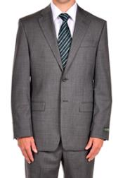 Steel Grey Dress Suit Separates Portly CUT