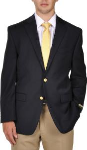 Wool 2-Button Lewis Blazer Navy