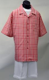 1526 ~ Small Poly checkered check pattern suit Short Set ~