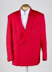 MUZ762TA MENS RED Double Breasted BLAZER JACKET