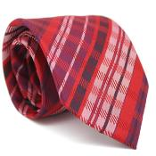 Red Glen Classic Necktie with Matching Handkerchief - Tie Set