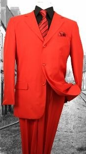 G-Red Solid Color Suit